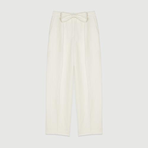 Pleated pants : Pants & Jeans color White