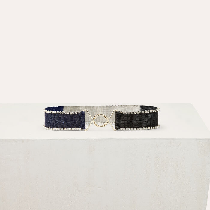 Bicolor pearled belt : Shoes & Accessories color Multico