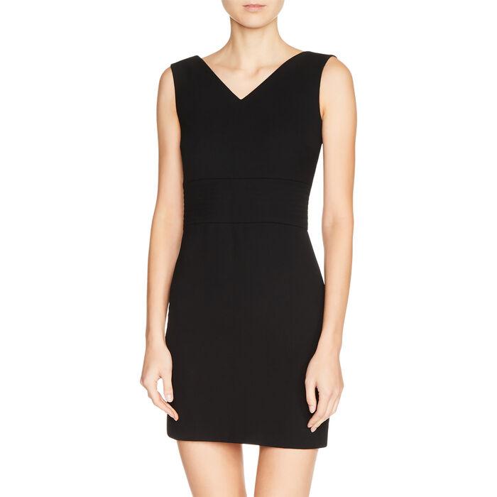Crêpe sleeveless dress : Dresses color Black 210