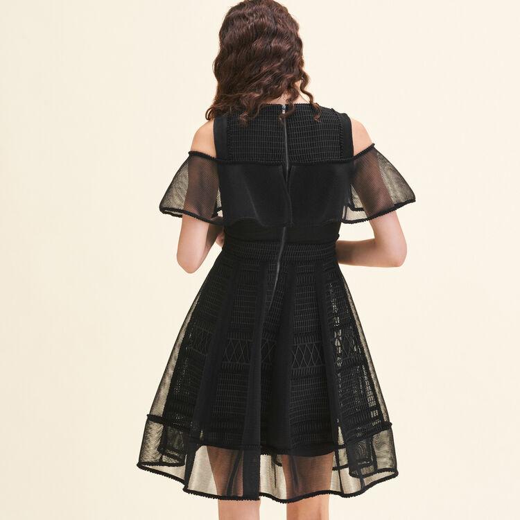 Mesh sleeveless dress : null color