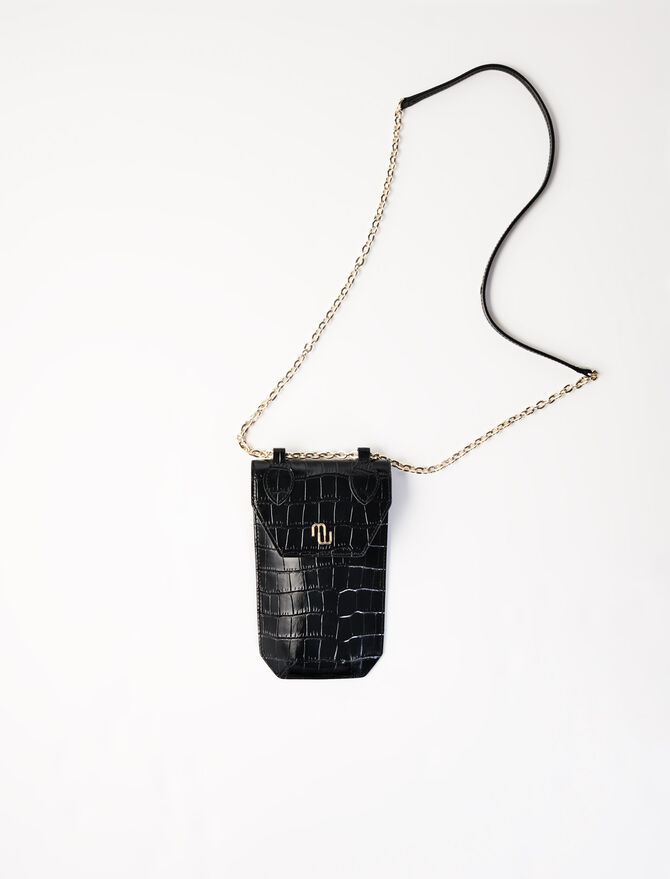 Embossed leather phone case - Small Leather Goods - MAJE