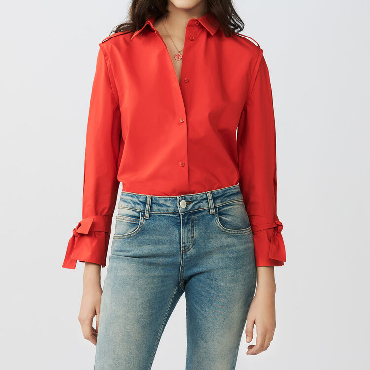 Shirt with intricate detailing : Tops & Shirts color Red