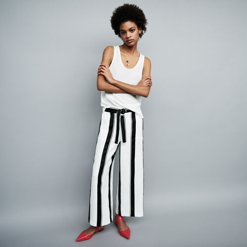 Oversized striped pants : Pants & Jeans color Stripe