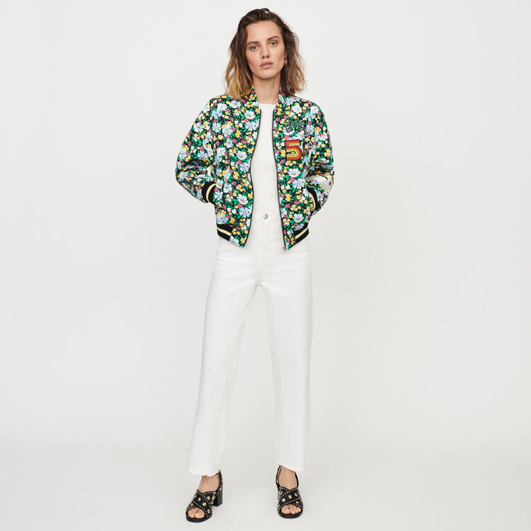 Floral print jacket : Coats & Jackets color Printed