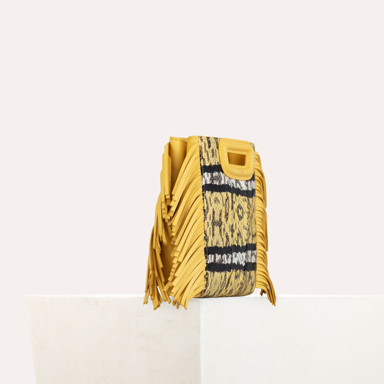 M Mini bag in water snake : Spring Collection color Yellow