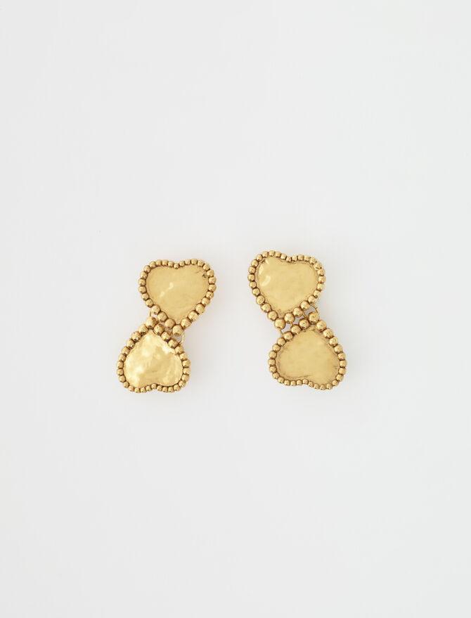 Gold-plated heart earrings - Jewelry - MAJE