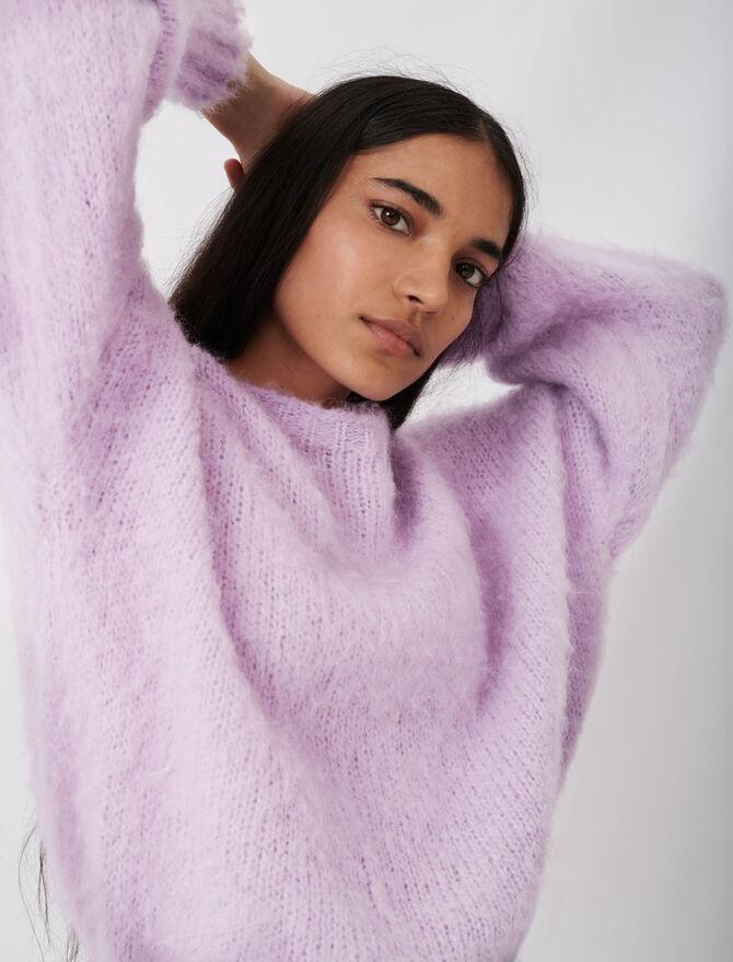 Round neck cashmere sweater - Sweaters - MAJE