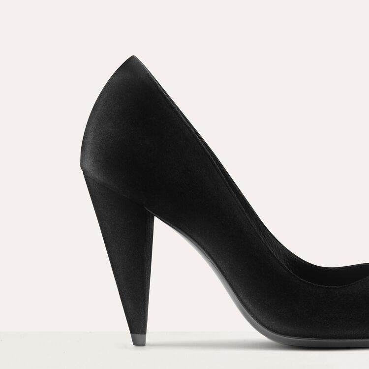 High heals suede shoes : Shoes color Black 210