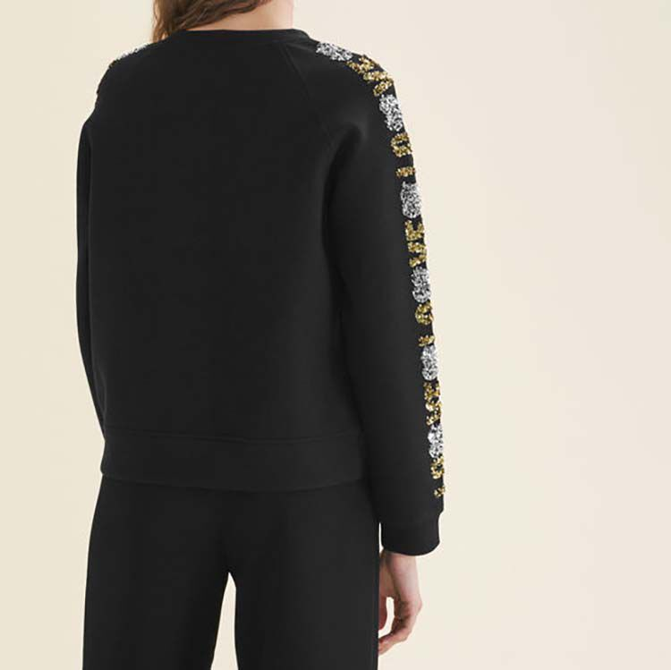 Neoprene-look sweatshirt with sequins : null color