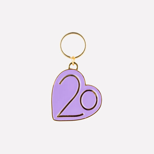 Keyrings X 20 years : Patches & Pins color Purple