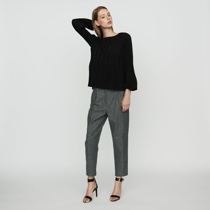 Top with lining : Tops & T-Shirts color Black 210