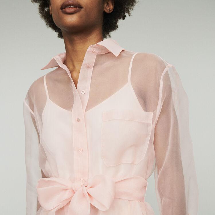 8385c4a5b22 REVANI Organza shirt dress - Dresses - Maje.com