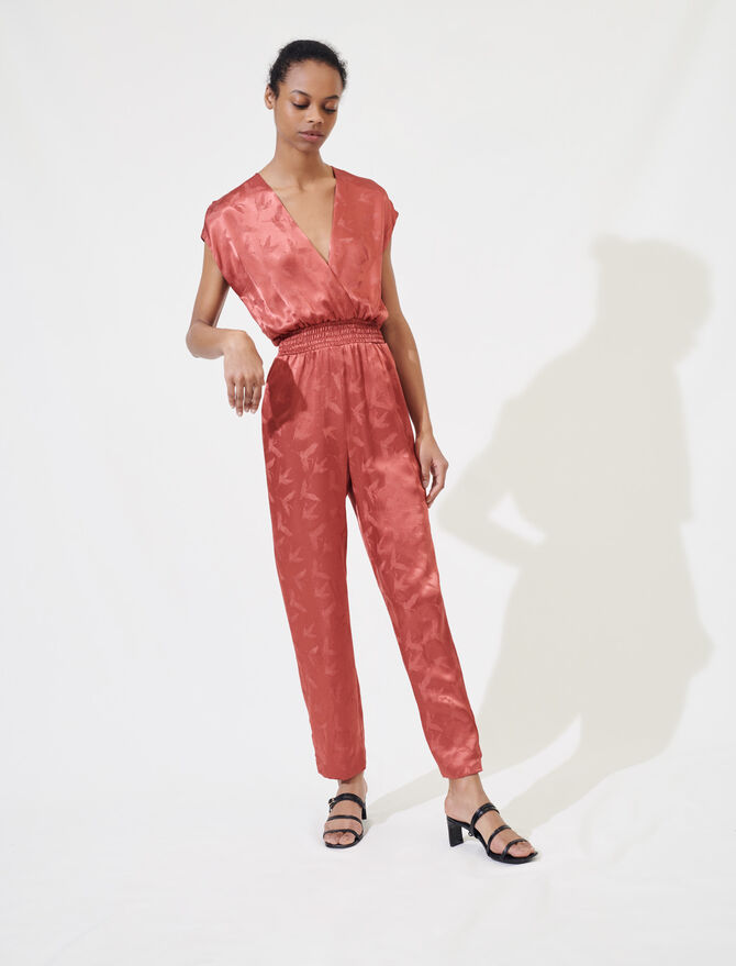 Silky jacquard jumpsuit - Jumpsuits & Rompers - MAJE