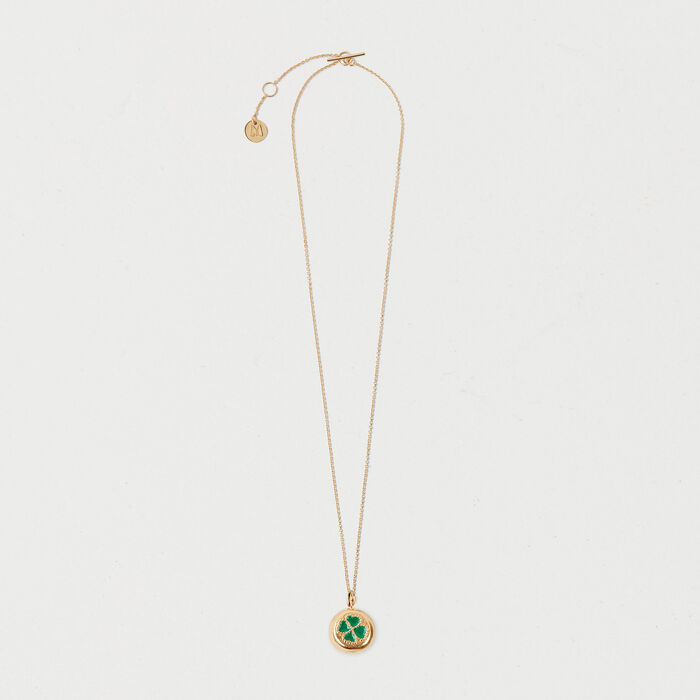 Four-leaf clover necklace : Jewelry color GOLD