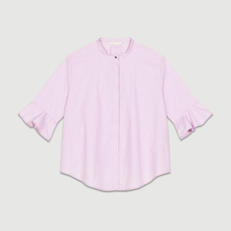 Oversized poplin shirt : Tops & T-Shirts color Pink