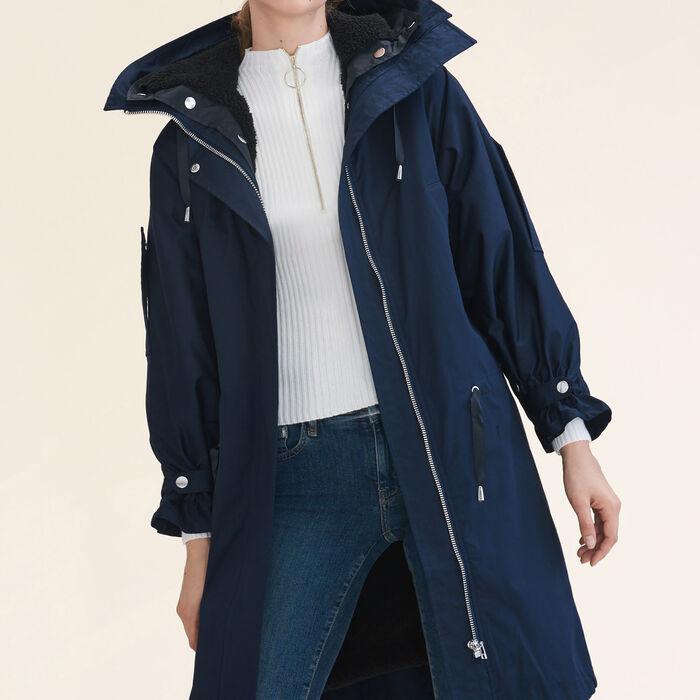 GABINIA Long parka - Coats & Jackets - Maje.com