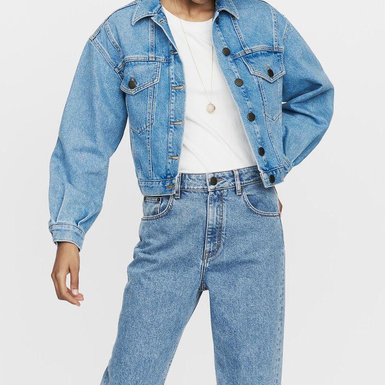 Cropped denim jacket : Coats & Jackets color Denim
