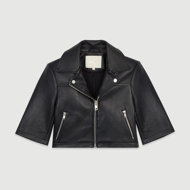 Leather jacket : Coats & Jackets color Black