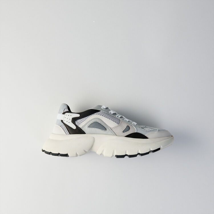 W20 leather city sneakers : Shoes color Grey