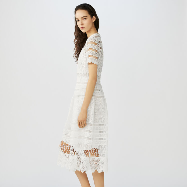 Long lace dress : Dresses color ECRU