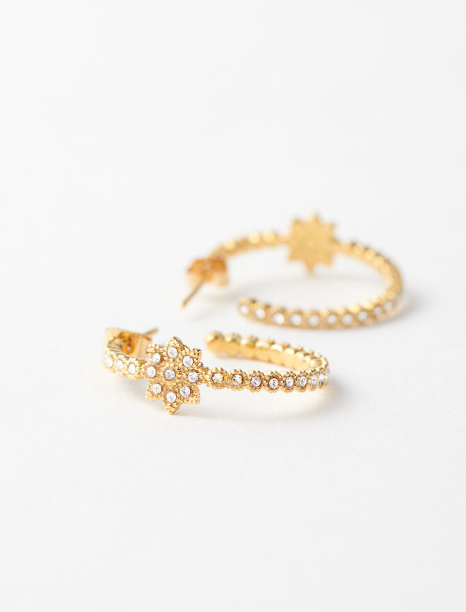 Gold-plated small earrings -  - MAJE