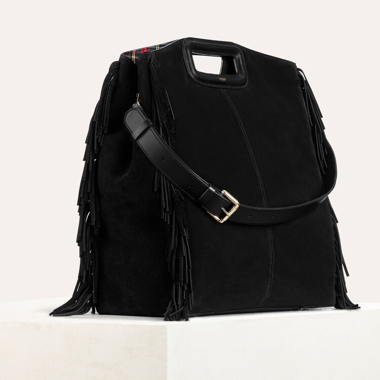 Tote with suede fringe : Handbags & Purses color Black 210