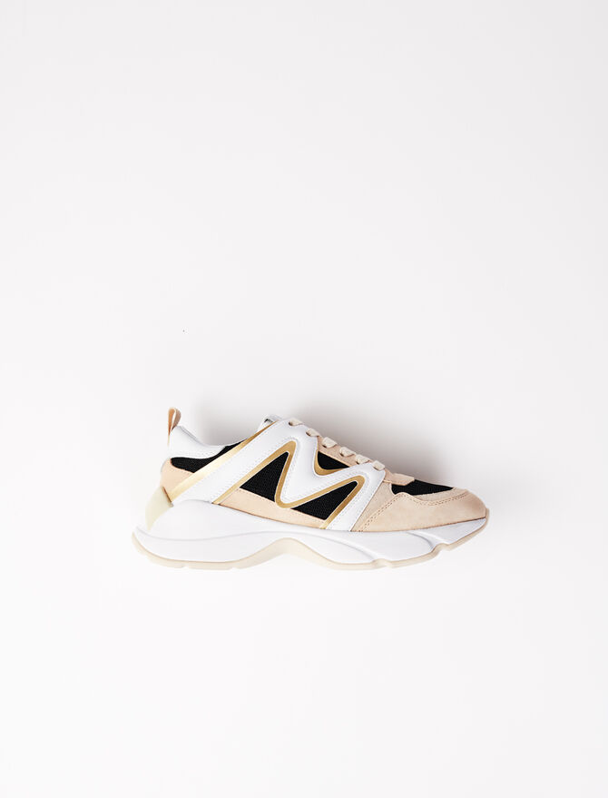 W22 material mix trainers - Shoes - MAJE