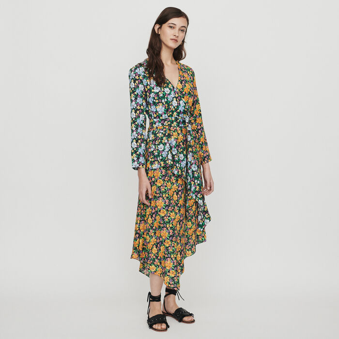 1d007de1b4 ROEN Long dress in floral print - Dresses - Maje.com