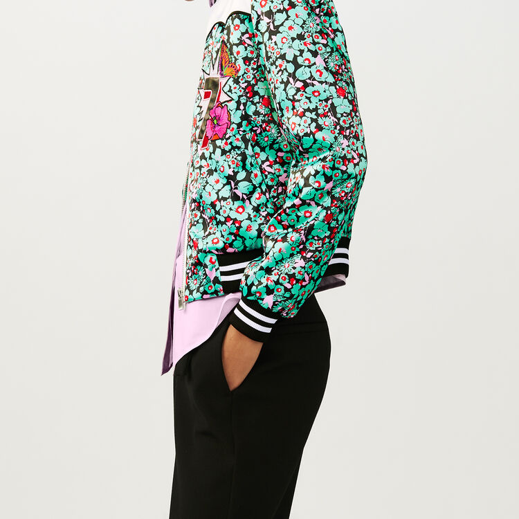 Multicolored bomber jacket with print : Coats & Jackets color PRINTED