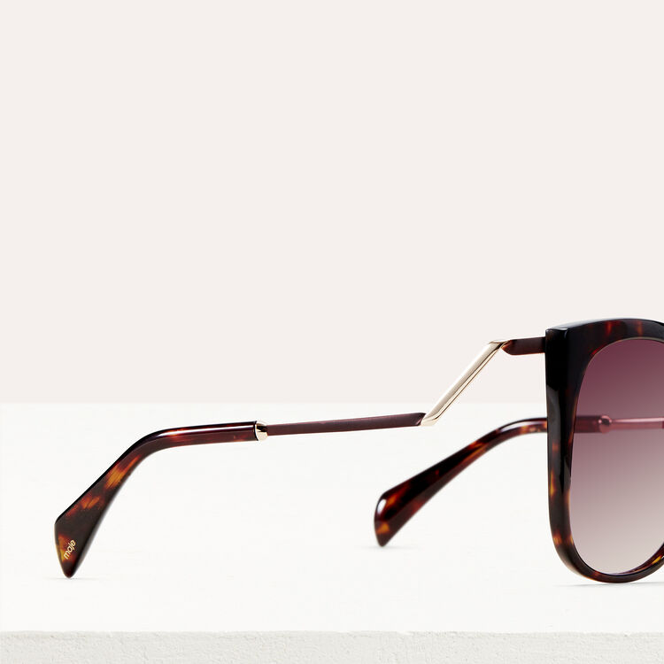 Retro sunglasses : Sunglasses color Ecaille