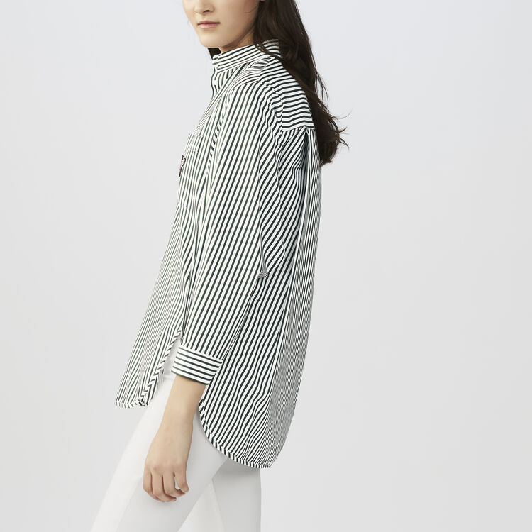 Striped cotton shirt : Tops & Shirts color Stripe