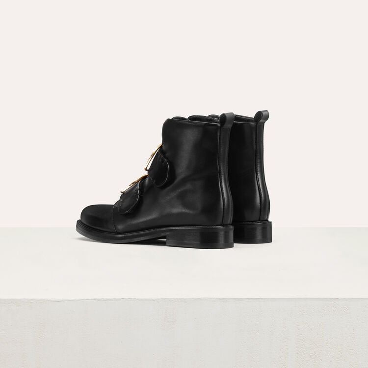 Flat boots : Shoes & Accessories color Black 210