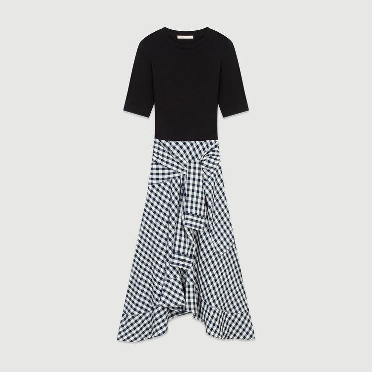 de1eee1cd3 RAPRI Bimaterial midi dress - The Essentials - Maje.com