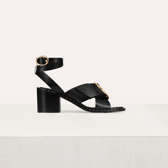 Sandal with buckle : Shoes & Accessories color Black 210