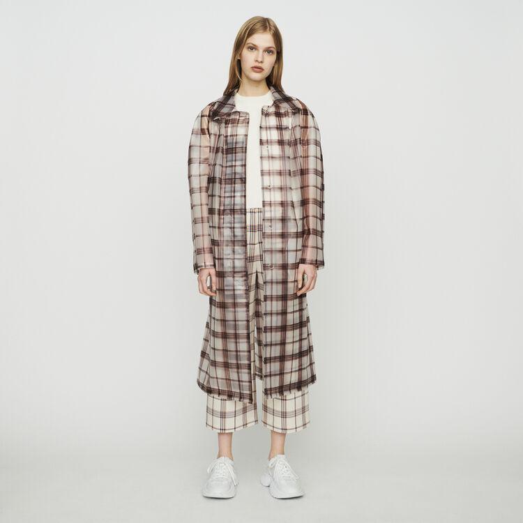 Transparent checkered coat : Coats & Jackets color CARREAUX
