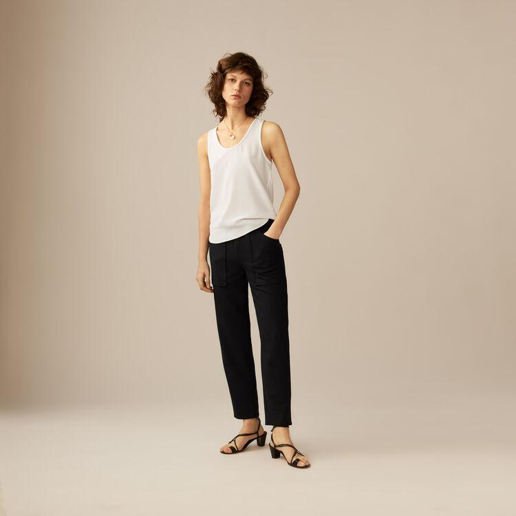 Silk tank top : Tops & Shirts color ECRU
