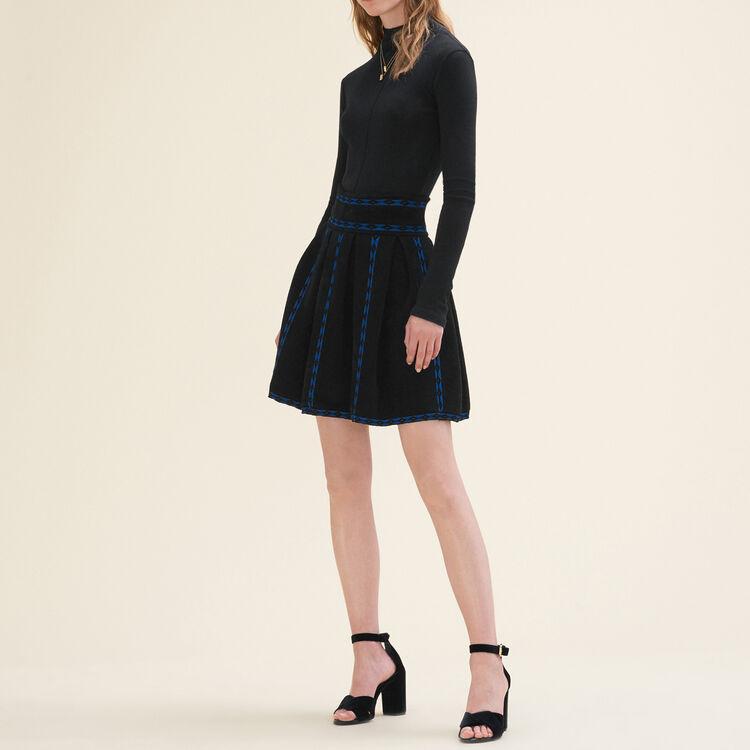 Jacquard knit skirt : Skirts & Shorts color Black 210