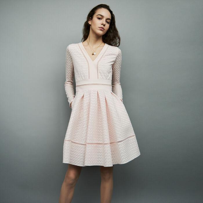 Rossignol Lace Skater Dress Dresses Maje Com