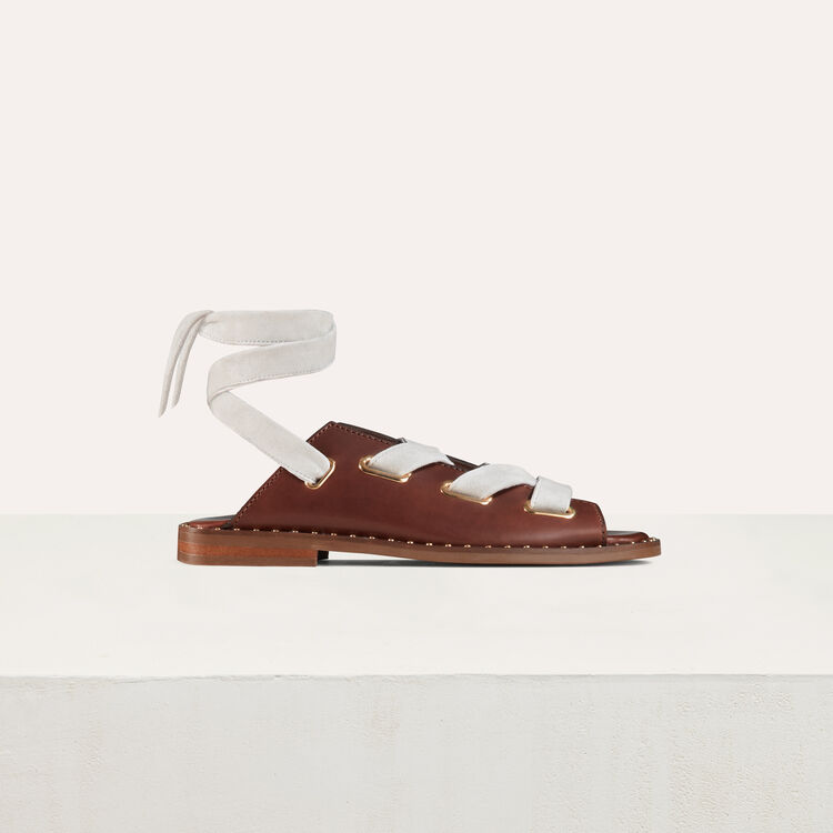 Leather sandals : Shoes & Accessories color Black 210