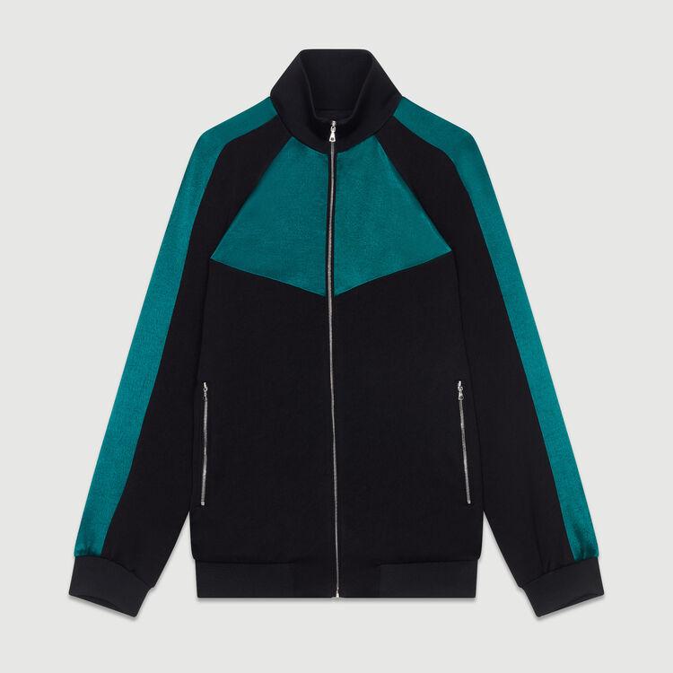 Bicolor athletic jacket : Coats & Jackets color Black 210