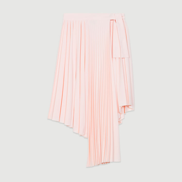 Asymmetric pleated skirt : Skirts & Shorts color Black 210