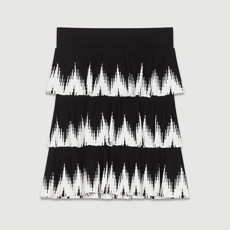 Mesh flounce skirt : Skirts & Shorts color Black 210