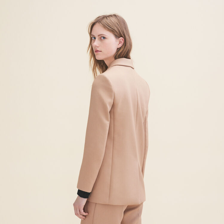 Mid-length tailored jacket - Coats & Jackets - MAJE