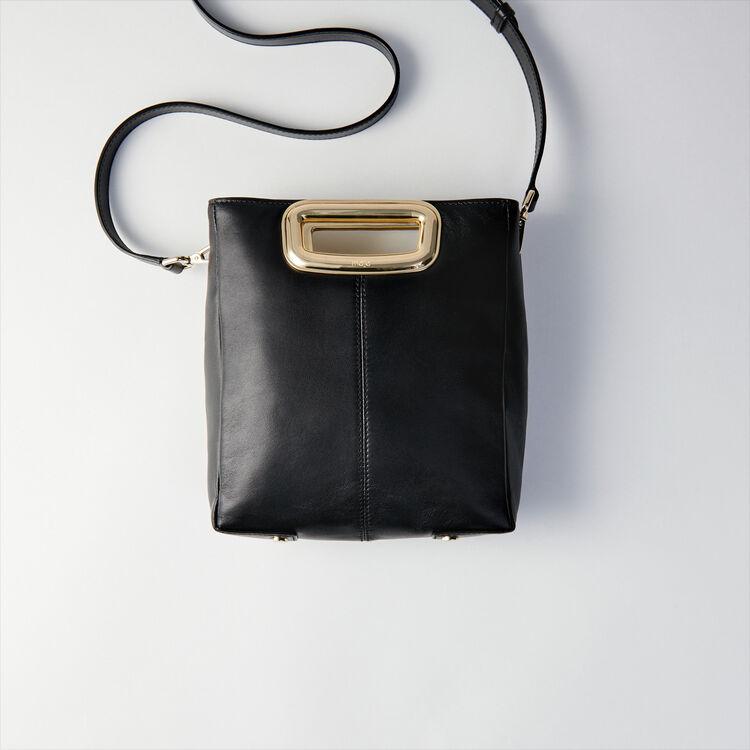 M Mini Skin bag in leather : M Skin color Black