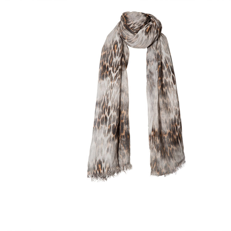 Leopard-print scarf : null color