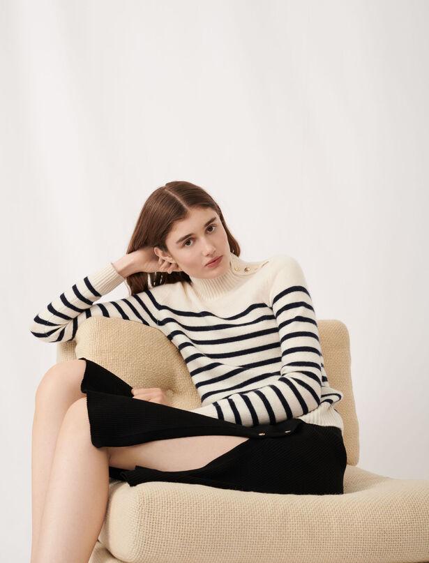 마쥬 세일러 100% 캐시미어 풀오버 MAJE MFPPU00233 Sailor-style cashmere sweater JPA60P3
