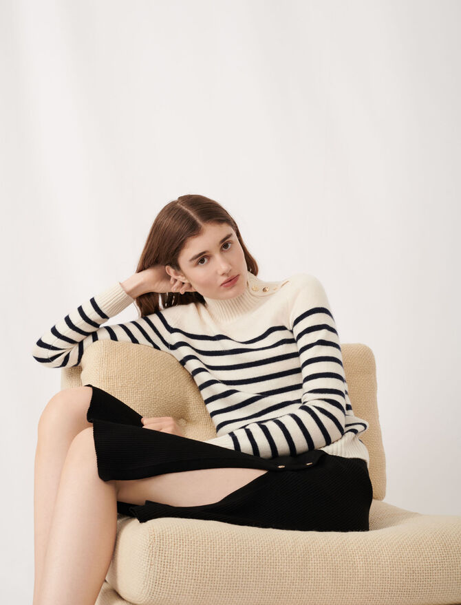 Cashmere sailor-style sweater - The Essentials - MAJE