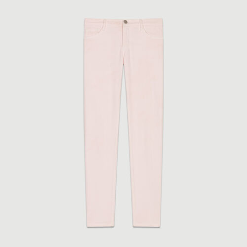 Boyfriend jeans with embroideries : Pants & Jeans color Pink
