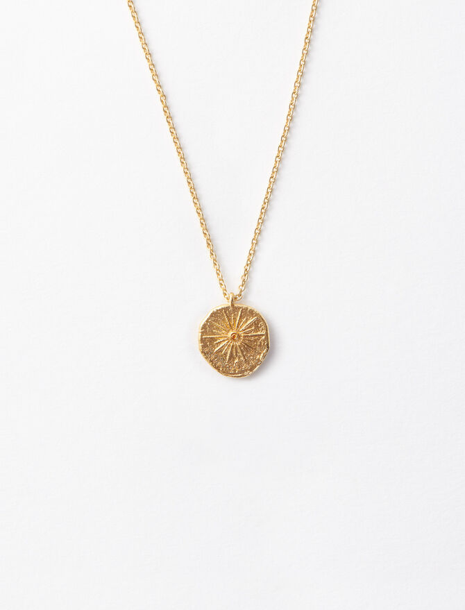 """Mon Soleil"" gold-plated necklace. - Jewelry - MAJE"