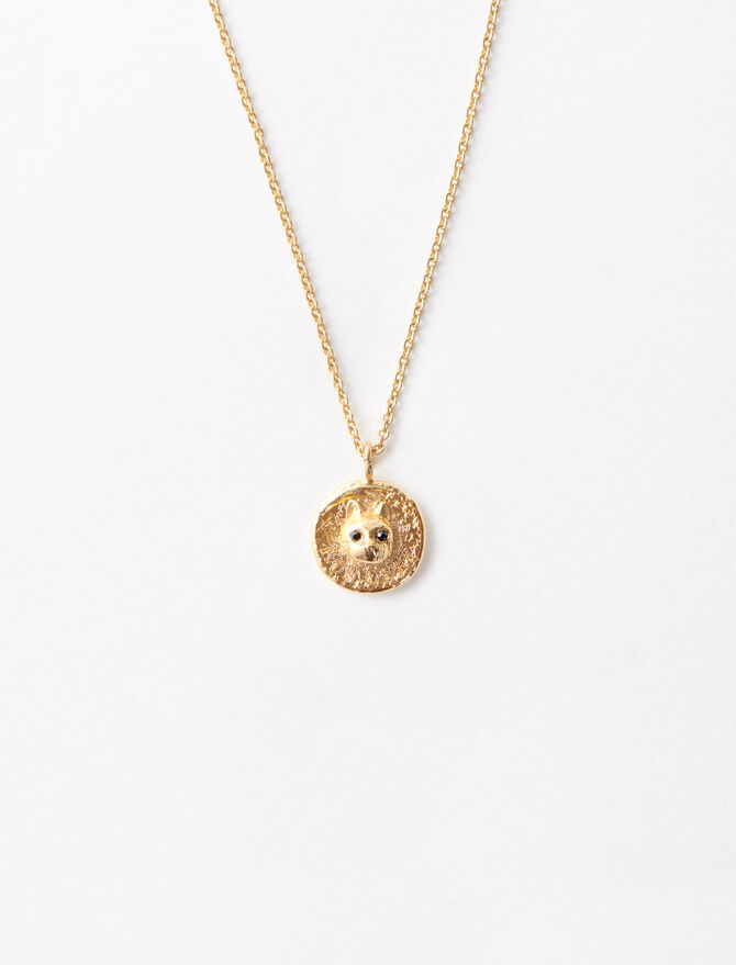 """Mon Chat"" gold-plated necklace. -  - MAJE"